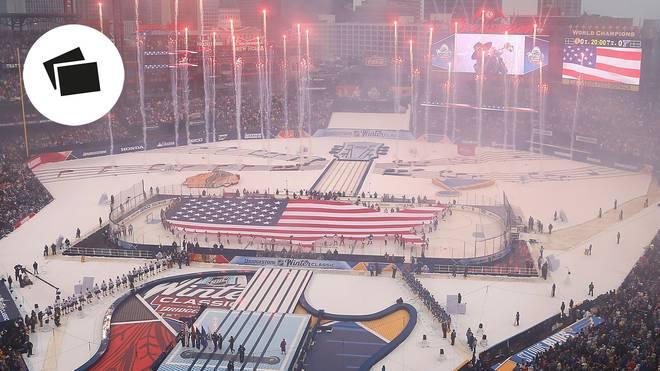 2017 sorgte das NHL Winter Classic -zwischen Chicago und St Louis für atemberaubende Bilde