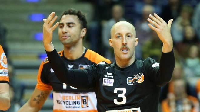 Volleyball Bundesliga Männer  Auch Dustin Watten war bei der klaren Niederlage gegen Frankfurt machtlos