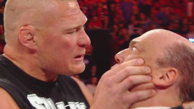 Brock Lesnar (l.) ging bei WWE Monday Night RAW sogar auf Paul Heyman los
