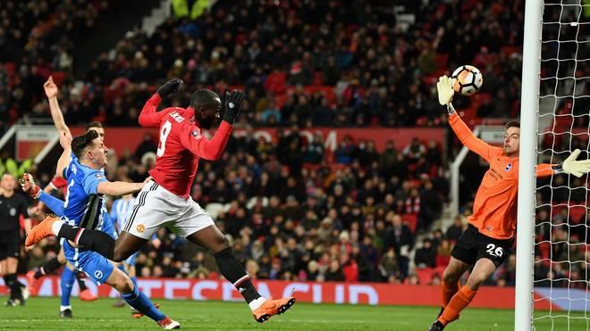 Romelu Lukaku brachte Manchester United gegen Brighton & Hove Albion in Führung