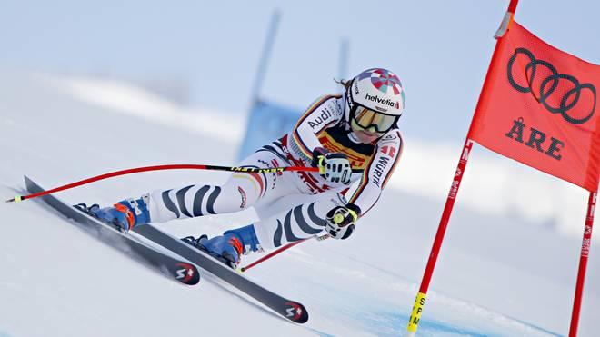 Viktoria Rebensburg wurde am Dienstag Vierte im Super-G