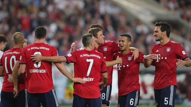Die Spieler des FC Bayern feiern einen ihrer vielen Siege
