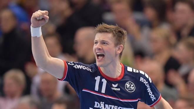 Lasse Svan ist mit fünf Toren Flensburgs erfolgreichster Werfer