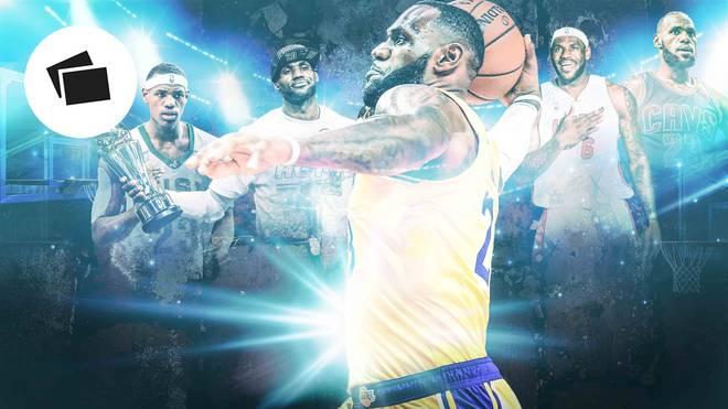 LeBron James hat auf seiner High School, bei den Miami Heat, den Cleveland Cavaliers und den Los Angeles Lakers große Momente erlebt