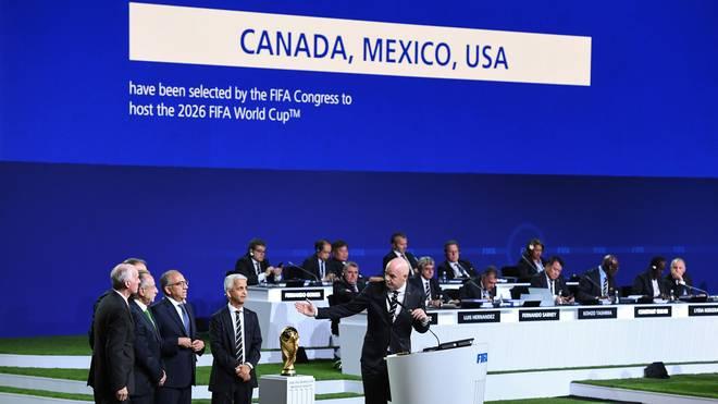 """""""United 2026"""": Die USA, Mexiko und Kanada tragen die WM in acht Jahren aus"""