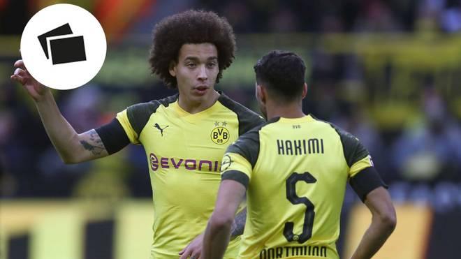 Axel Witsel und Achraf Hakimi (v.l.) erwartet mit dem BVB noch eine knackige Restserie
