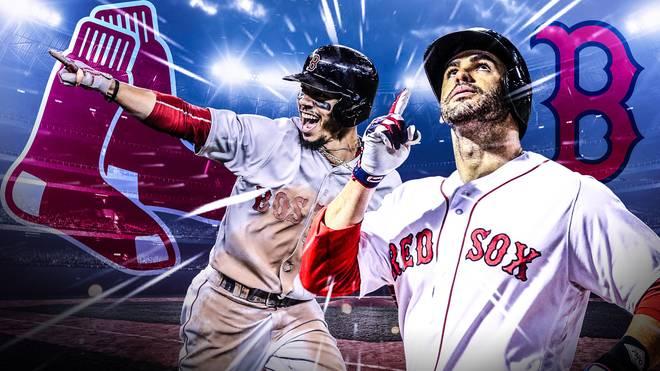 Die Boston Red Sox feiern mit J.D. Martinez (r.) und Mookie Betts große Erfolge