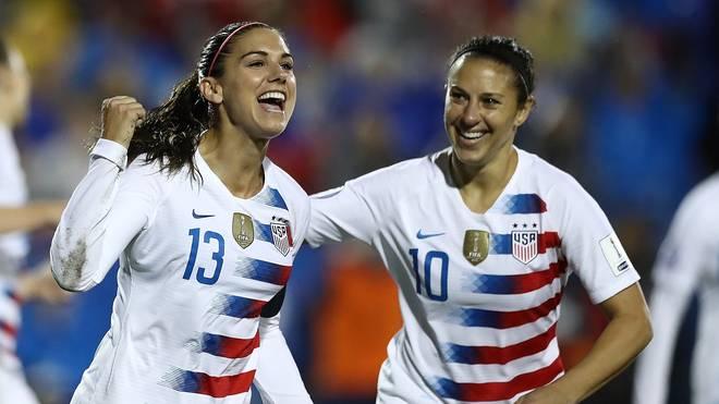 Alex Morgan (l.) und Carli Lloyd (r.) führen das US-Aufgebot bei der WM in Frankreich an