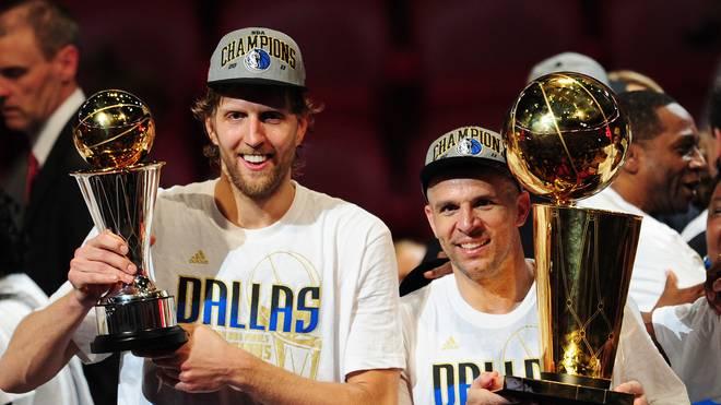 Dirk Nowitzki (l.) und Jason Kidd gewannen 2011 zusammen den NBA-Titel