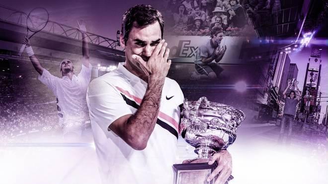 Roger Federer Meilensteine Karriere Grand Slam
