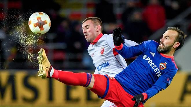 ZSKA Moskau (r.: Bibras Natcho) steht im Achtelfinale der UEFA Europa League