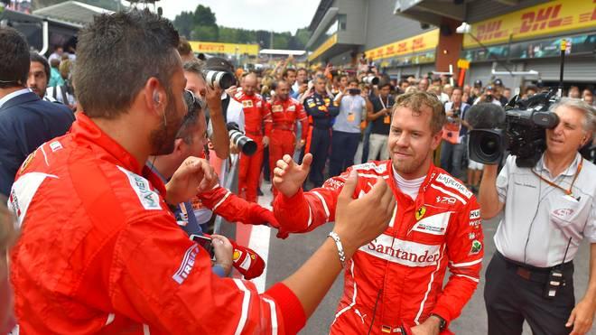 Sebastian Vettel nach Platz zwei beim GP von Belgien in Spa