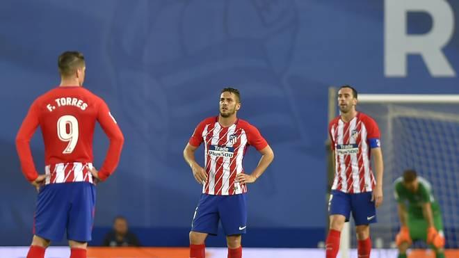 Die Enttäuschung war den Spielern von Atletico Madrid ins Gesicht geschrieben