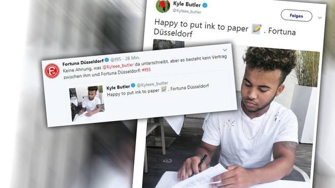 Kyle Butler bei seiner vielbeachteten Unterschrift