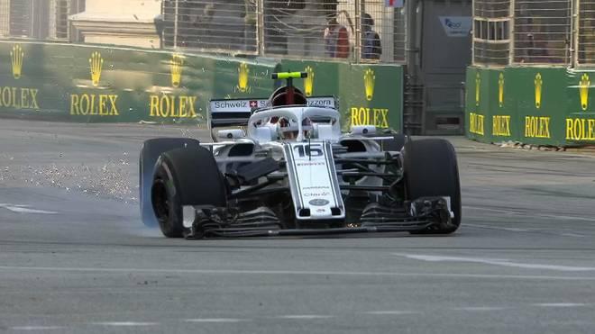Formel 1: Charles Leclerc hat im ersten Training nach der Ferrari-Ankündigung direkt einen Unfall gebaut