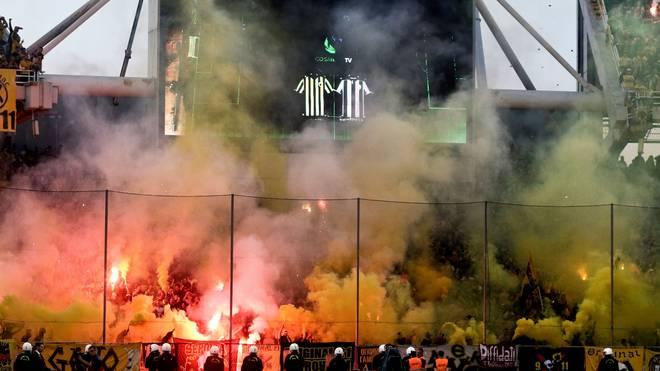 Anhänger von AEK lieferten sich vergangene Woche Schlägereien mit der Polizei