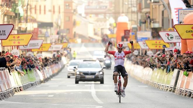 Thomas De Gendt darf sich über den ersten Tagessieg bei der Katalonien-Rundfahrt freuen