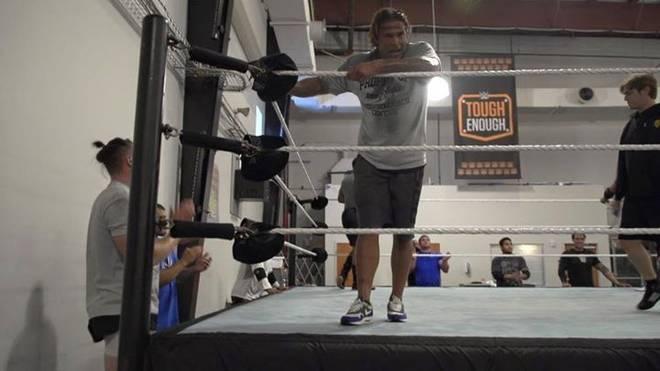 Das erste Foto: Tim Wiese beim Wrestling-Training in den USA