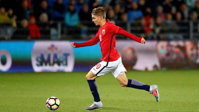 Martin Oedegaard lief bisher 12 Mal im Trikot der norwegischen Nationalmannschaft auf
