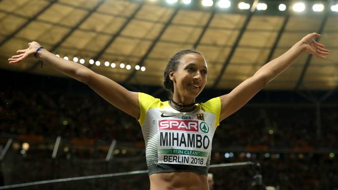 Malaika Mihambo gewann bei der EM in Berlin Gold im Weitsprung