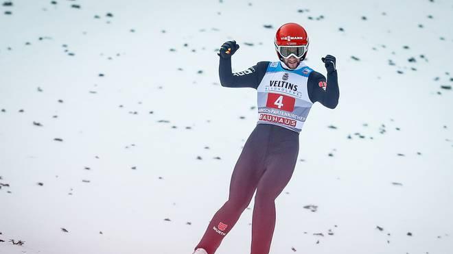 Markus Eisenbichler liegt in der Gesamtwertung der Tournee auf Rang zwei