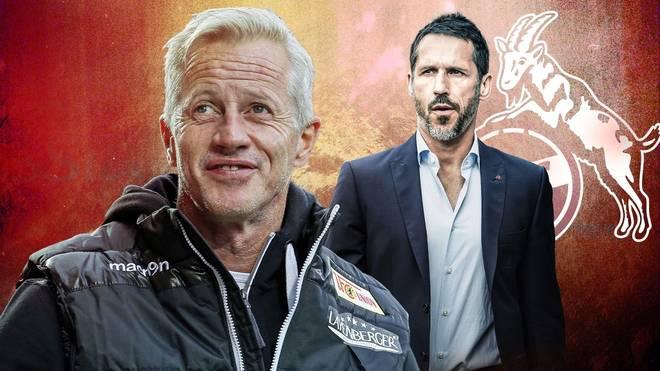 Thomas Eichin (r.) ist jetzt Berater von Trainer Jens Keller