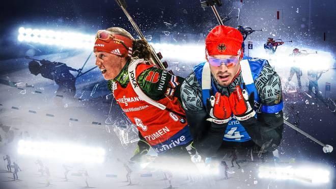 Laura Dahlmeier (l.) und Simon Schempp sind die Hoffnungsträger der deutschen Skijäher 2018/19