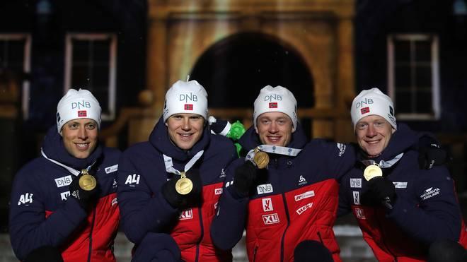 IBU Biathlon World Championships - Men's and Women's Relay Mit neun Medaillen ist Norwegen die dominierende Nation der Biathlon-WM in Östersund
