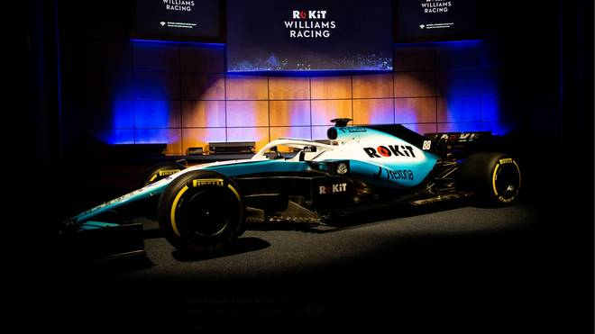 Formel 1 Williams Präsentation neues Auto Bei Williams setzt man optisch auf cooles Eisblau, um den FW 42 zu einer Augenweide zu machen