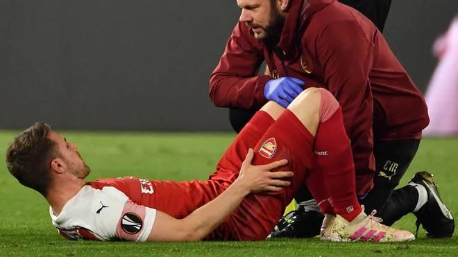 Aaron Ramsey wird dem FC Arsenal im Saisonendspurt verletzt fehlen