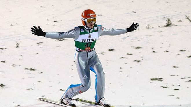 Richard Freitag feiert den sechsten Weltcupsieg seiner Karriere