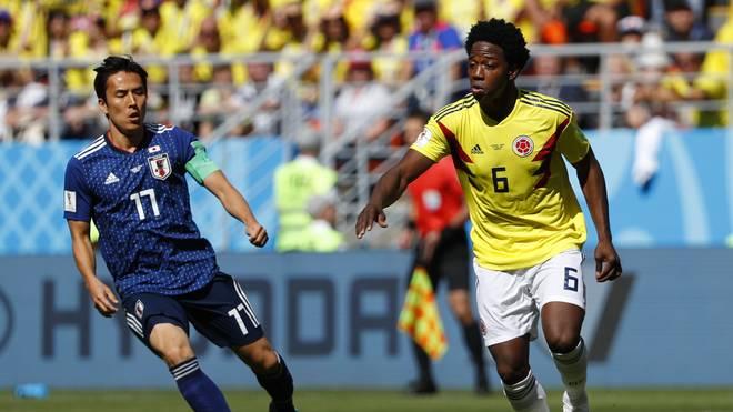 Carlos Sanchez (r.) wurde nach einem Platzverweis gegen Japan angefeindet