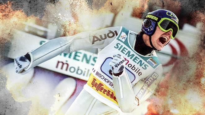 Sven Hannawald gewann bei der Vierschanzentournee 2001/02 alle vier Springen