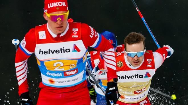 FIS Nordic World Ski Championships - Men's Cross Country Relay Der Langlauf sind bisher norwegische Festspiele in Seefeld. Im 30km Skiathlon triumphierte Sjur Roethe (r.)