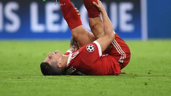 James verletzte sich gegen Sevilla leicht