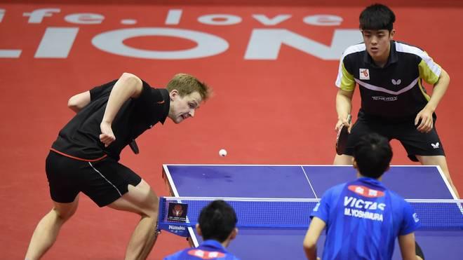 Benedikt Duda (l.) und Dang Qiu standen erstmals in einem World-Tour-Finale