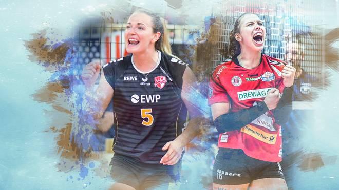 Volleyball-Bundesliga, Frauen: SC Potsdam - Dresdner SC LIVE im TV & Stream