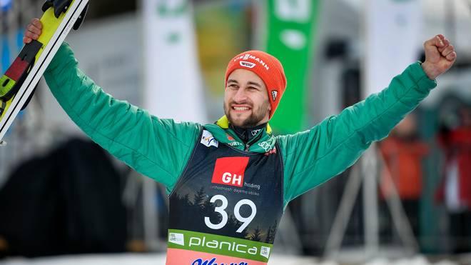Markus Eisenbichler wurde zum Saisonabschluss Dritter
