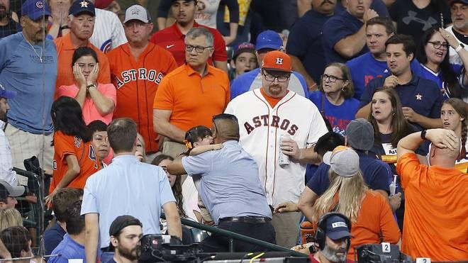 MLB Baseball: Beim Spiel der Houston Astros gegen die Chicago Cubs wurde einer der jüngsten Fans von einem Foul-Ball getroffen