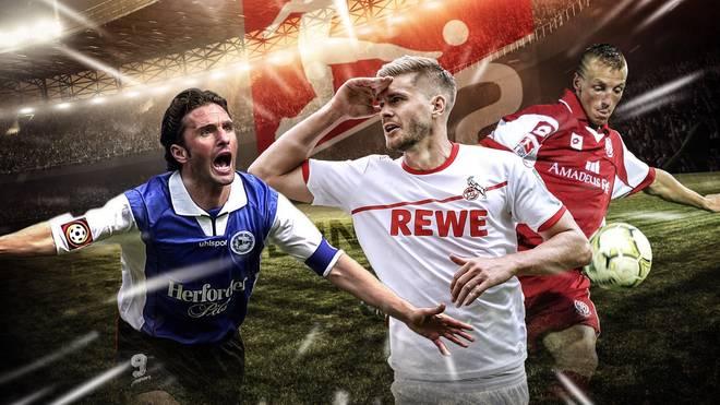 Simon Terodde (M.) nimmt die Spitze der ewigen Torjägerliste der 2. Bundesliga ins Visier