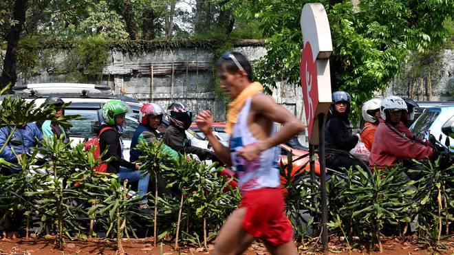 Hendro Yap brach über 50 km zusammen