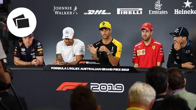 Nicht nur Daniel Ricciardo (M.) hat ein neues Team, Sebatian Vettel hat für diese Formel-1-Saison einen neuen Kollegen