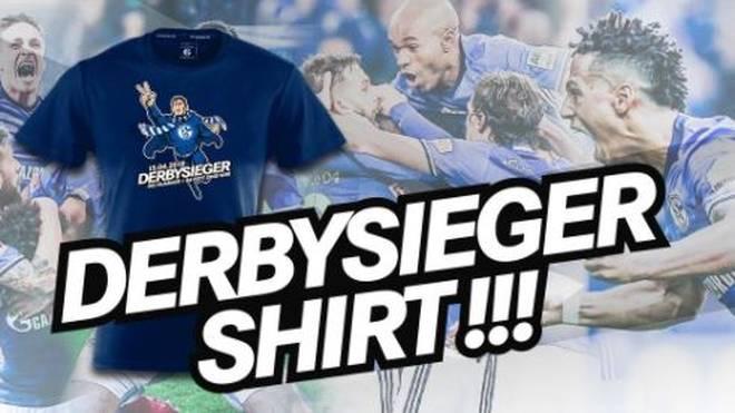 Schalke 04 feiert feiert mit einem Extra-Shirt den Sieg über den BVB