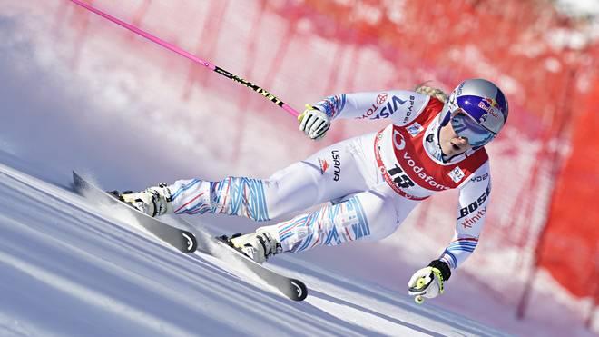Lindsey Vonn gab beim Weltcup in Cortina d'Ampezzo ihr Comeback nach längerer Verletzungspause