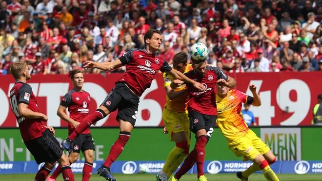Der 1. FC Nürnberg machte in letzter Sekunde den Ausgleich per Kopfball gegen Union Berlin