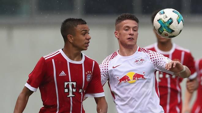 Der FC Bayern gewann das Hinspiel um die U17-Meisterschaft gegen RB Leipzig mit 3:0