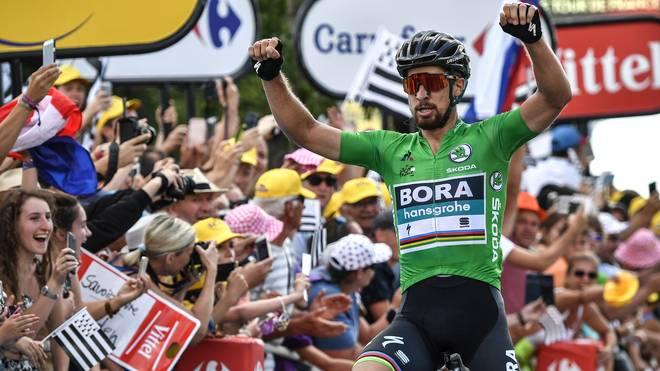 Peter Sagan feiert seinen zweiten Etappensieg bei der diesjährigen Tour de France