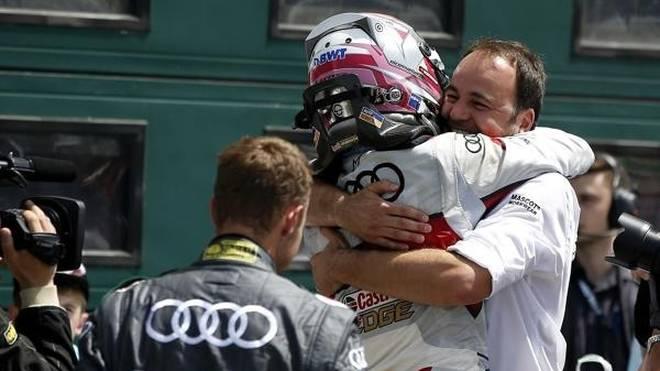 Moment der Erlösung: Sieger Nico Müller und Abt-Audi-Sportchef Thomas Biermaier