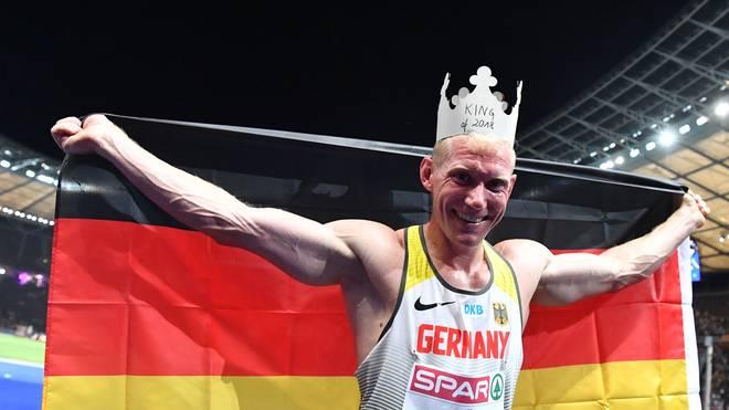 Zehnkämpfer Arthur Abele landete bei der Leichtathletik-EM auf Platz eins