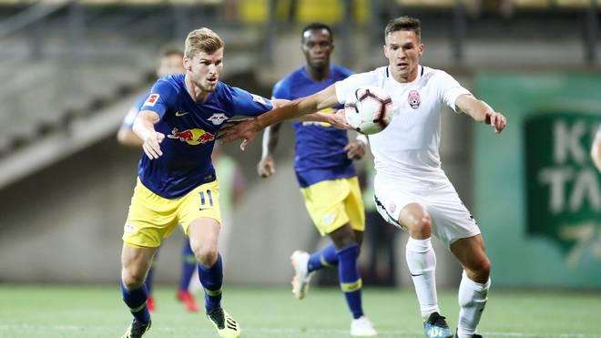 Timo Werner bestritt gegen Sorja Lugansk sein erstes Pflichtspiel für RB Leipzig in dieser Saison